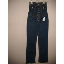 Pantalon Para Dama Talla 24 Color Azul De Mezclilla Nuevo