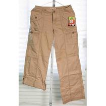 Pantalon Tactico Beige Juniors Dama Quiksilver 100% Original