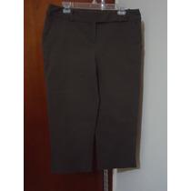 Pantalon Capri Axcess By Liz Claiborne Cafe P/dama 12 Amer