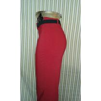 Pantalón De Vestir Stretch Rojo T-13 Nuevo