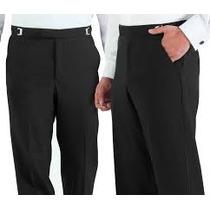 Pantalon Casual Sin Pinzas Tallas Extras 46x32 Negro