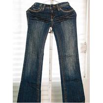 Pantalon Mezclilla Azul Niña Roxy 100% Original