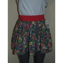 Faldas Hollister Co. Floral S-m Nueva Shorts,jeans,vestido