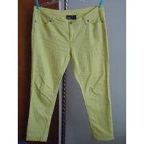 Pantalon D Mezclilla Skinny Amarillo Dama T/extra 42 Mex.