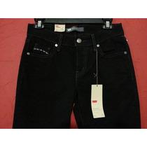 Jeans Pantalon Levis Negro Skinny Stretch