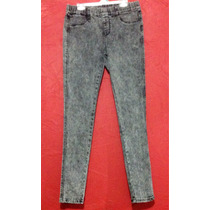 Skinny Jeans Stretch Elástico Cintura Ajuste Perfecto Mujer