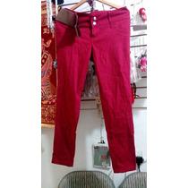 Bonito Pantalón Casual Nuevo Color Vino Talla 13 O 36