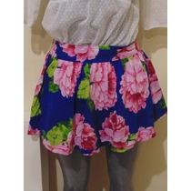 Faldas Abercrombie & Fitch T-m Floral Nueva Orig. Shorts,