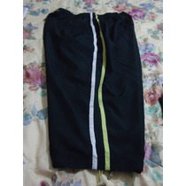 Pants Capri Negro C/franjas T Extra P/damas Gorditas 18-42