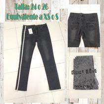 Pantalon Mezclilla Jeans X S O S Skinny Gris Moda Chic