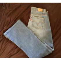 Pantalon Jean Mezclilla Celeste Levis T. 3 Chico Mujer