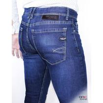 Jeans Caballero Corte Skinny Mezclilla Strech - Envíogratis