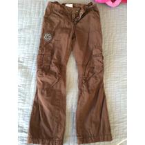 Pantalón Niña Old Navi Talla 6 Con Ajuste De Cintura