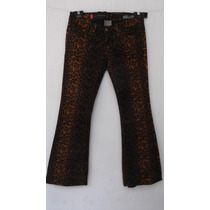 Pantalon Jeans Rock Star T/3= 26 Mex Animal Print