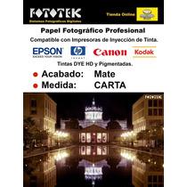 Papel Fotográfico Profesional Carta Mate 50 Fotos