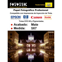 Papel Fotográfico 5x7 Mate Doble Cara 100 Fotos