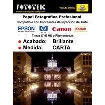 Papel Fotográfico Profesional Carta Brillante 20 Hojas