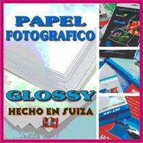 Papel Fotografico Suizo De Alto Brillo Glossy Para Inkjet