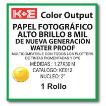 Papel Fotografico 1.27x30 Mts. N2 Ke012 Kronaline Hp, Encad,