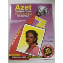 Papel Azet Premium Satin Irrompible Photo 20 Hojas