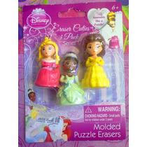 Princesas De Disney Aurora Tiana Y Bella Set De Borradores