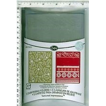 Scrapbook Sizzix Embossing Folders Branches Swirls & Ribbons