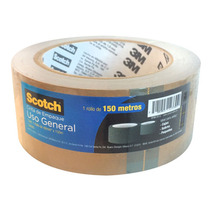 Cinta Canela Adhesiva Empaque Embalaje Uso General Scotch 3m