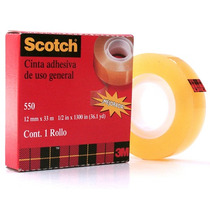 Cinta Adhesiva Transparente 550 Uso General Scotch 3m
