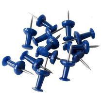 Pin O Tachuela Azul Cajita Con 50 Piezas Obi