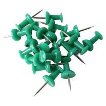 Pin O Tachuela Verde Cajita Con 50 Piezas Green Obi