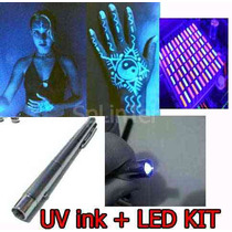 4 X $99 Plumon Espia Tinta Invisible Y Luz Uv Super Led Fe8