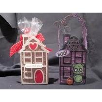 Scrapbook Sizzix Suaje Casa De Navidad Halloween Dulces