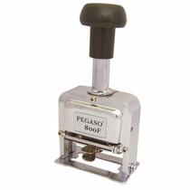 Foliador De 8 Digitos De Metal Cromado Pegaso Azo-fld-800f
