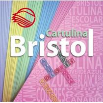 50 Pliegos D Cartulina Bristol 240gr Canario Azul Rosa Verde