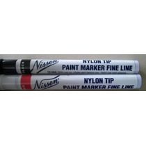 2 Marcadores De Pintura Esmalte Con Punta De Nailon Nylon