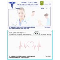 500 Recetas Medicas A Todo Color 1/2 Carta,foliadas,en Block