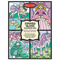 Block Papel Tipo Vitral P/ Colorear Fantasía Melissa & Doug