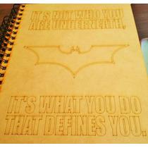 Libreta De Dibujo Batman, Volver Al Futuro Mdf Laser