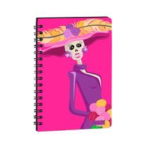 Libreta Cuderno Grande C/suave Catrina Mexico En Papel