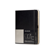 Libreta Cover Ipad Air Black+volant Moleskine