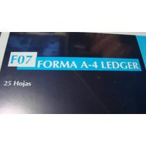 Block A-4 Ledger Papeleria 25 Hojas Tamaño Oficio