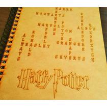 Libreta De Dibujo Harry Potter, Hunger Games, Lotr Mdf Laser