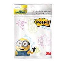 Notas Adhesivas Minions Colores 3x3 Recordatorios Post-it 3m