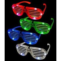 12ct Luz Led Up Ranurados Shades Sunglasses - Surtido De Fla