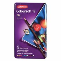 Estuche De Colores Derwent Coloursoft Con 12 Lapices