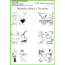Sl060 Sello Animales Aves Y Mamíferos 22 Diferentes Limongi