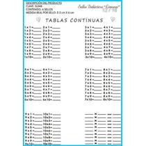 Sl048 Sello Tablas Multiplicar 1-10 Continuas 6 Pzas Limongi