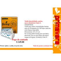 Toalla Interdoblada, Sanitas, Marca Kimberly Clark ®.