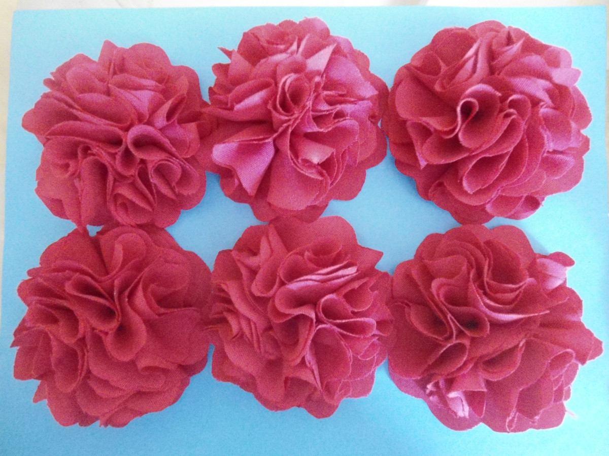 Flores en tela imagui - Flores de telas hechas a mano ...