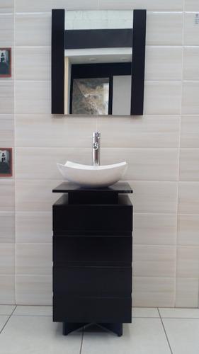 Muebles Para Baño Organizadores:Mueble Para Baño Color Chocolate Lavabo De Marmol 78×40 Paty – $